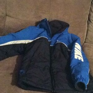 Nike reversible jacket with removable hood